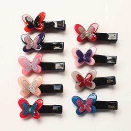$enCountryForm.capitalKeyWord NZ - 20pc  Lot Crystal Jelly Kids Hair Clips Cartoon Butterfly Hairpins Top Quality Korean Acrylic Girls Hair Accessories Glitter Clip