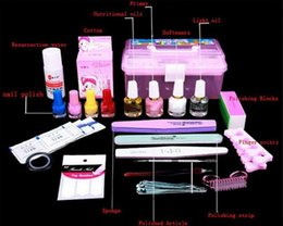 Barato Uv Esmaltes De Rosa Quente-Atacado-Venda quente! Professional Gel UV polonês Define-de-rosa 42 Colors pregue Kits Art Equipamentos DIY Beauty Fingers cortador Ferramenta
