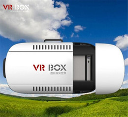"Wholesale MOQ 10pcs Head Mount VR BOX Version 1.0 VR Glasses Virtual Reality Glasses Rift Google Cardboard 3D Movie for 3.5-6.0"""
