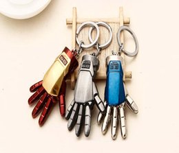 Movie Steel Canada - NEW Hot fashion Cartoon Game movie Key Marvel's The Avengers Iron Man arm alloy keychain wedding favors keychain cc67