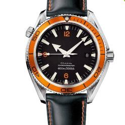 Planet Ocean Orange Leather Canada - Automatic Mechanical Black Faces Sea Planet Ocean Co-Axial 600 M Swiss Mens Sports Watches Date Luxury Top Brands Men Leather Watch Buckles