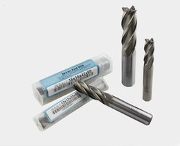 Cnc Wood Tools Canada - High Quality 10 pcs lot Tungsten Carbide Four Flutes End Mill Cutter Sets on Wood CNC Cutting Machine Tools Router Bits