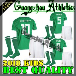 67fdb17bc Kids 2018 Northern Ireland Kids home away Football shirt McNAIR K.LAFFERTY  soccer Jersey world cup boy child jersey camiseta de futbol