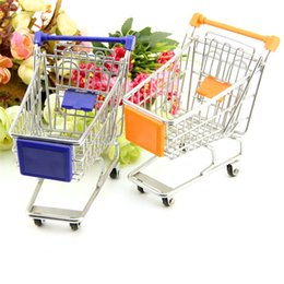 Children Trolley Wholesale Canada - Phone Storage Holder Children Play House Toys For Mini Supermarket Hand Trolleys Shopping Cart Kid Gifts 4 05fq C R