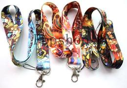 Discount key straps - 50 pcs Cartoon pattern Kingdom Hearts lanyard printing keychains straps id holders neck  key phone lanyard