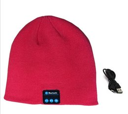 China 2015 New Chirstmas gift Bluetooth Music Hat Soft Warm Beanie Cap with Stereo Headphone Headset Speaker Wireless Microphone DHL free suppliers