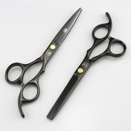 China 705# Black 6'' High Quality Professional Kasho Hair Cutting Scissors and Hair Thinning Shears,JP440C SS Barber and Home Hairdressing Razor cheap razor hair cutting suppliers