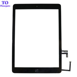 9.7 digitizer UK - 50PCS For iPad 5 ipad Air A1474 A1475 A1476 Digitizer Touch Screen Front Glass Lens Replacement DHL Free