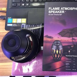 China Black Mobile NZ - Led flame speaker Torch atmosphere Bluetooth speakers & Outdoor Portable Stereo Speaker with HD Audio and Enhanced Bass