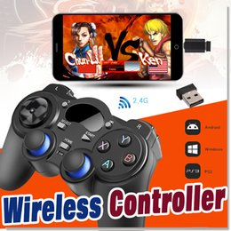 Tablet Wireless Controller Australia - Universal 2.4G Wireless Game Controller Gamepad Joystick Mini keyboard Remoter For Android TV Box Tablets PC Windows 8 7 XP With Package