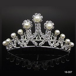 Chinese  18007-Cheap Crowns Popular Beautiful Hair Accessories Comb Crystals Rhinestone Bridal Wedding Party Tiara 4.53 inch*1.97 inch Free Shipping manufacturers