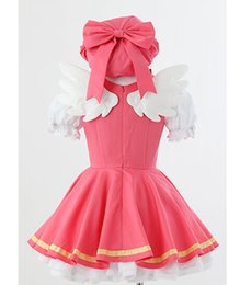 $enCountryForm.capitalKeyWord Canada - Cardcaptor Sakura kinomoto sakura cosplay costume Magical pink dress +hat+ wings costume