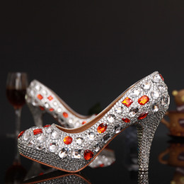 $enCountryForm.capitalKeyWord NZ - Sexy Silver Crystal Woman High Heels Shoes Rhinestone Woman Evening Dancing Dress Shoes Ladies Stiletto Heels Shoes sapatos Femininos