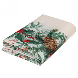 Christmas Tables Australia - Wholesale-Christmas tree tablecloths white table cloth rectangular toalhas de mesa new year linen table covers wedding decorations.