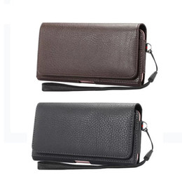 Leather beLt cLips online shopping - Luxury Universal Holster Belt Clip Waist Man Flip Pu Leather Cover Bag Phone Case For Iphone s Plus Samsung Galaxy S7