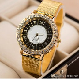 diamante buckles Canada - New Fashion quartz alloy strap popular woman and men rhinestone diamante Wrist watch