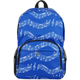 Best Bags For School UK - Durable Music Notes Pattern Packpack For School Relaxation Travel Stylish Double Shoulder Bags Racksacks Best Christmas Gifts For Boys