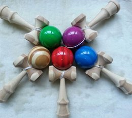 Games 18 free online shopping - DHL EMS Free New Big size cm bamboo Kendama Ball Japanese Traditional Wood Game Toy Education Gift Children toys colors