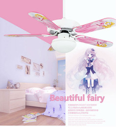 Wholesale Children Cute Cute Style Fan Lights Ceiling Fan Light Boys And Girls Bedroom Children Entertainment Living Room Fan Lighting