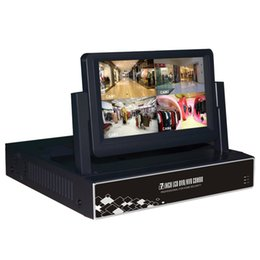 Video Dvr Security Systems UK - H.264 8 Channel All in One 1080P NVR With 7 Inch Monitor Security LCD Screen CCTV Video Surveillance System