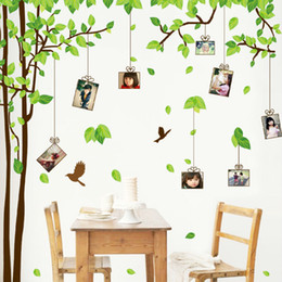 Large Removable Tree Decals Canada - Large Family Tree Picture Photo Frame Wall Decal Living Room Bedroom Sweetest Highlighting Wall Decorative Art Murals Stickers