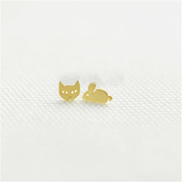 gold studs designs UK - 18K Gold Plated Ear Stud for Women Fashion Ear Studs Unique Design New Arrival for Sale3