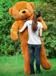 girl toys life size dolls Australia - Free Shipping 200CM huge giant teddy bear animals plush stuffed toys life size kid dolls girls toy gift New arrival