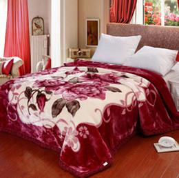 brand new chinese winter thickening blanket 195cmx230cm 38kg raschel blanket warm keeping double layer blanket king size - King Size Blanket