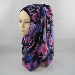 Chinese  Wholesale-Muslim Islamic Print Jersey Hijab 2015 Women Oversized Maxi Neck Scarf Real Slip Shawl Wrap170*50cm 33colors Mix Free Shipping manufacturers