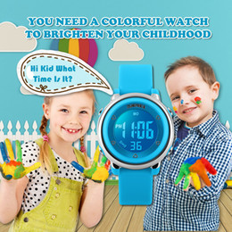 kids digital sports watch Australia - 2018 SKMEI New Fashion Sports Children Watches Waterproof Alarm Watch Kids Back Light Calendar Digital Wristwatches Relogio Infantil