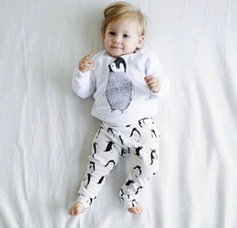 Costumes De Bébé Animaux Pas Cher-Spring Baby Toddler Baby Set Enfants Cartoon Animal Set Coton T-shirt + Pantalons Enfant 2pcs Vêtements Costumes Leisure Wear Children Set Set 1192