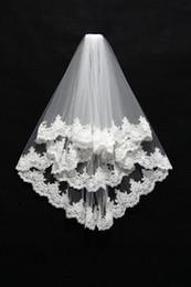 $enCountryForm.capitalKeyWord Canada - 2019 Real image lace edage short wedding veil tulle bridal veils ivory white voile velo de novia accessoires mariage CPA050