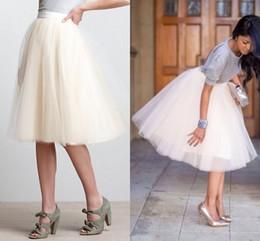 $enCountryForm.capitalKeyWord Australia - White Tutu Skirts For Women Knee Length Puffy Women Skirts Midi Length Summer Party Dresses Adult Skirts Short Casual Skirts Formal Dresses