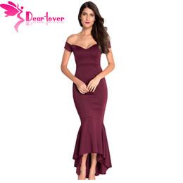 d850847dfb Dear-Lover Vestidos De Festa party night club dresses Navy Off-shoulder  Mermaid Jersey Dress Formal Gowns roupa feminina LC60171 q1113