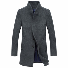 Wholesale trench coats for sale for sale - Group buy Vintage Style Winter Long Wool Coats For Men Simple Covered Button Plus Size Overcoat Hot Sale Elegant Business Trench Coats