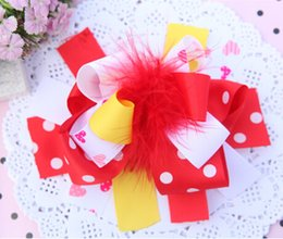 Best Gift For Xmas Canada - 15% off 2015 new 18colors Boutique 6inch big Bowknot hairpin Baby Bow Feather Hair Clip for girls best xmas gift drop shipping 15pcs