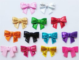 Cute Little Girl Hair Accessories Canada - Little Girl Hair Accessories Cute Colors Baby Girl Hair Bands Paillette Bow Childrens Wedding Hair Accessories New Arrival LY006