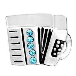 Musical Beads Canada - Fashion Style Music Theme Musical Intrument Accordion European Charm Bead For Pandora Bracelet