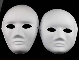 decorated masks 2019 - Unpainted Thicken man Women Blank Masks For Decorating Environmental Pulp Full Face Mask DIY Fine Art Painting Masks 10p