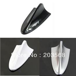 $enCountryForm.capitalKeyWord Canada - 5pcs lot Universal Cheap ABS Plastic Car Antenna Shark Fin Decoration Silver Black White +Free Shipping