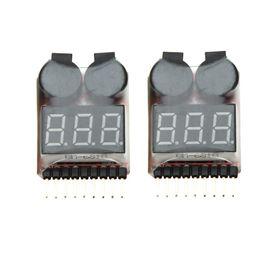 $enCountryForm.capitalKeyWord NZ - 2Pcs 1-8S RC Li-ion Lipo Battery Tester Low Voltage Buzzer Alarm Indicator order<$18no track