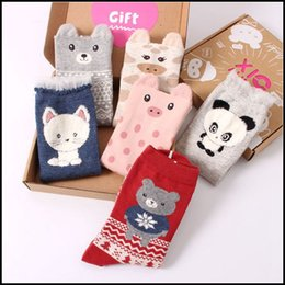 $enCountryForm.capitalKeyWord Canada - Prettybaby Adult women girls cartoon gift animal cotton socks 4 pairs each box carton cute SOX i love socks Pt0079#