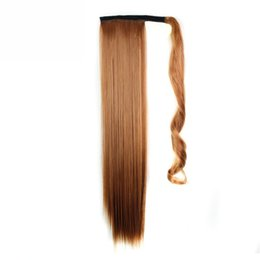 """$enCountryForm.capitalKeyWord UK - I's a 24"""" 110g 10 Colors Available High Temperature Fiber Synthetic Fake Hair Wraparound Ponytail Extensions for Women"""