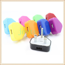 Ac Wall Charger Adapter NZ - Colorful UK plug AC wall charger 5V 1A UK adapter travel charger with 10 colors fit for IPAD iphone LG HTC Sumsung Sony