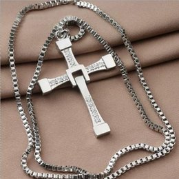 cross chain fast furious NZ - The Fast and the Furious necklace Toledo Crystal Christian cross Pendant Necklaces Jesus charm movie jewelry for Christmas gift
