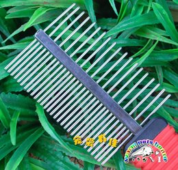 comb printing Canada - Hot sale Dog grooming combs double-sided stainless steel dog footprints printing dematting shedding comb puppy comb