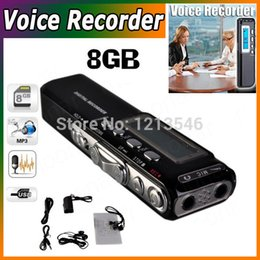 Chinese  Wholesale-New Free Shipping 8GB Digital Voice Recorder Dictaphone Phone Voice Record For Meetings Lessons manufacturers