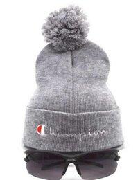 e480b960e38e1 New Brand beanies Knitted Hat Designer Champion Winter Warm Thick Beanie  Fedora gorro Bonnet Skull Hats for Men women Crochet Skiing Cap hat