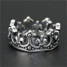 Fleur lis ring men online shopping - 1pc Newest Men Boy Fleur De Lis Crown Ring L Stainless Steel Top Selling Popular Cool Crown Ring