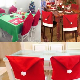 $enCountryForm.capitalKeyWord Canada - 240pcs FEDEX free 2015 Xmas Santa Clause Hat Chair Back Covers Cover Christmas Dinner Decorations NewYear Party Supply Favor